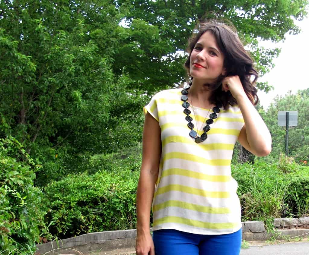 blue and yellow outfit - My Style Vita