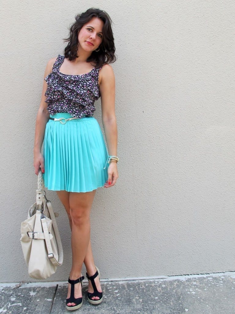 floral and pleats - My Style Vita