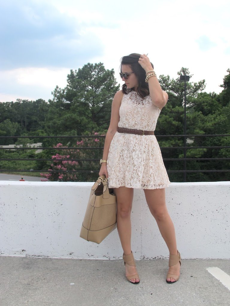 Free People Lace Dress Outfit - My Style Vita
