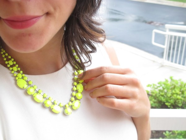 baublebar neon yellow necklace- My style vita