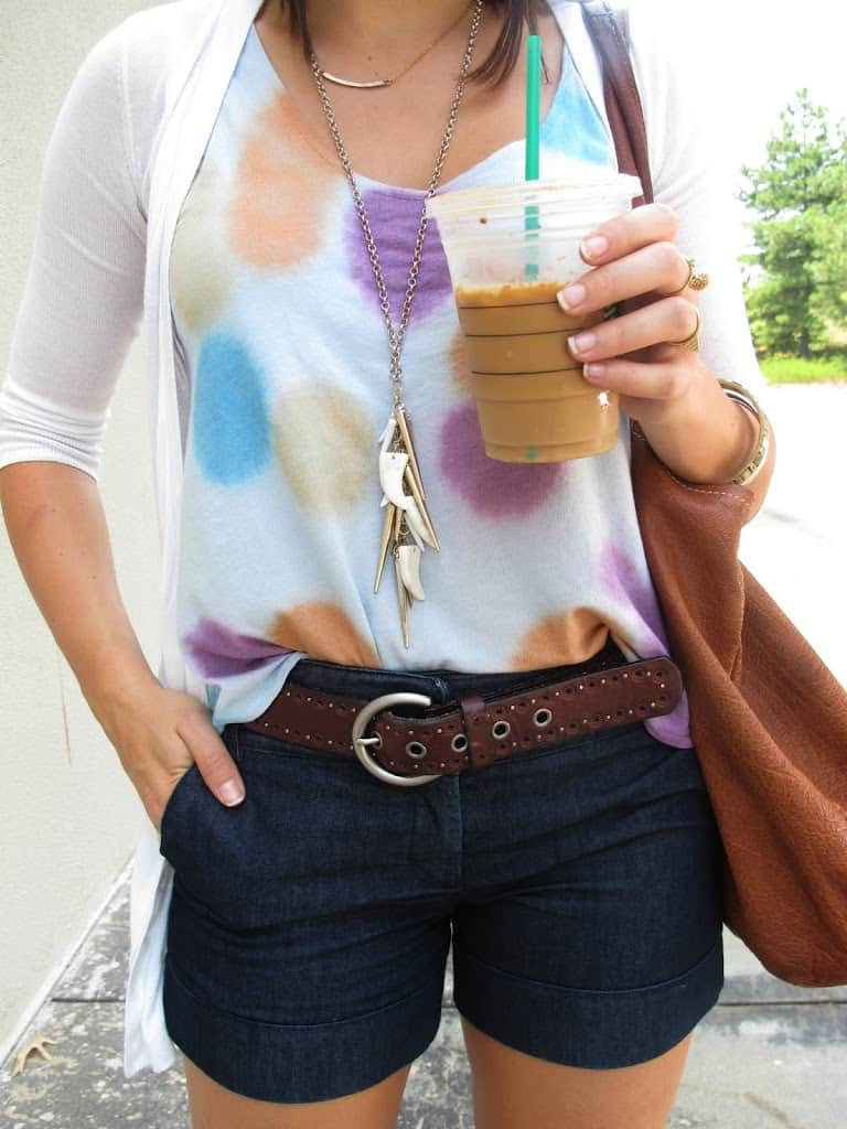 watercolor tank, summer outfit - My Style Vita