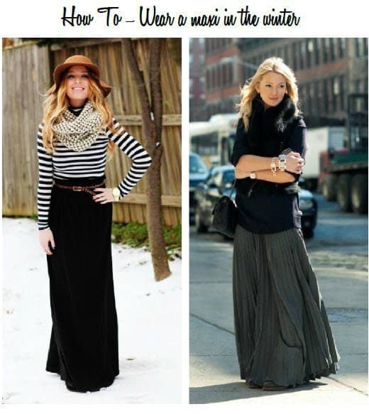 1a3c8d304e71 how to wear a maxi in the fall and winter with layers