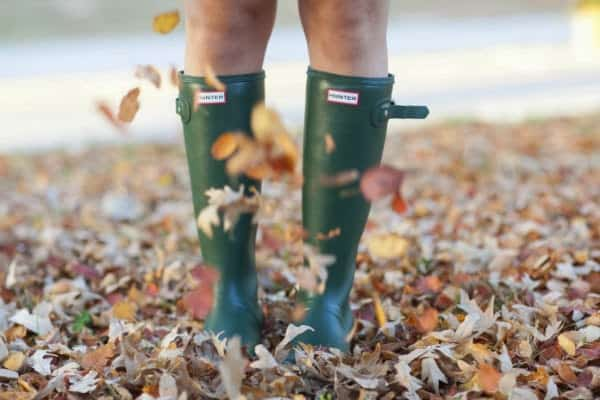 Hunter-Boots-with-Leavces