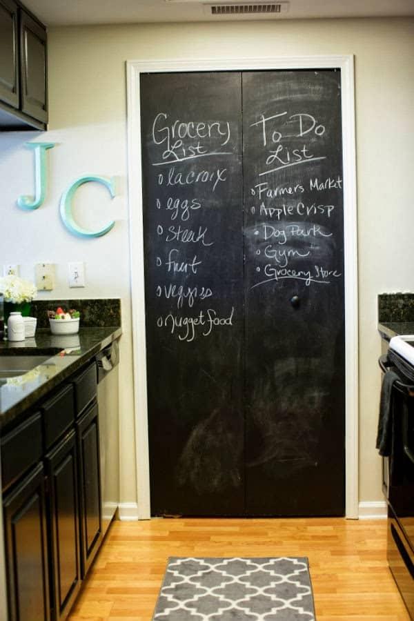 chalkboard pantry diy