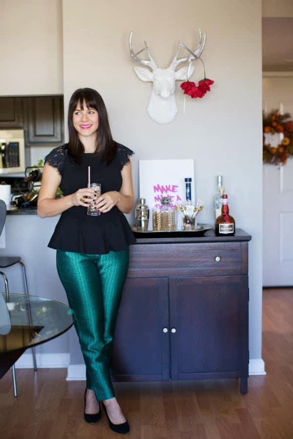 Foyer And Entryways Pub : How to style a bar cart