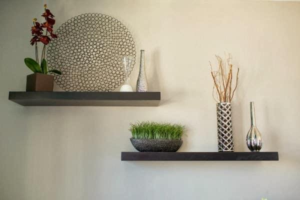 floating shelves decor