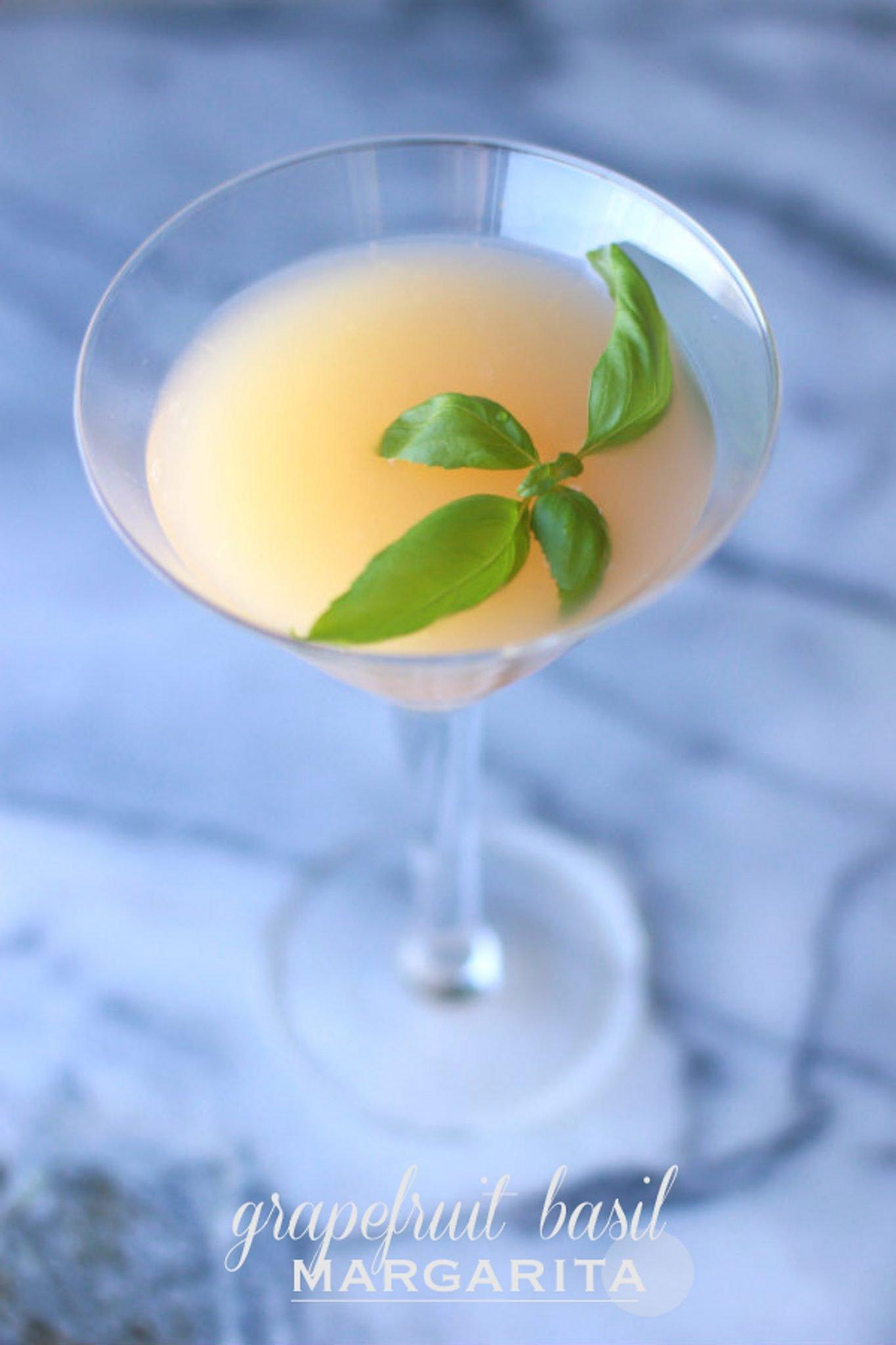grapefruit basil margarita from My Style Vita