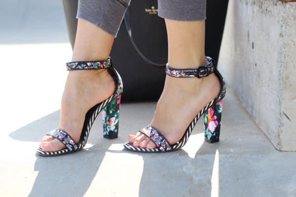 Aldo floral sandals, floral shoes,