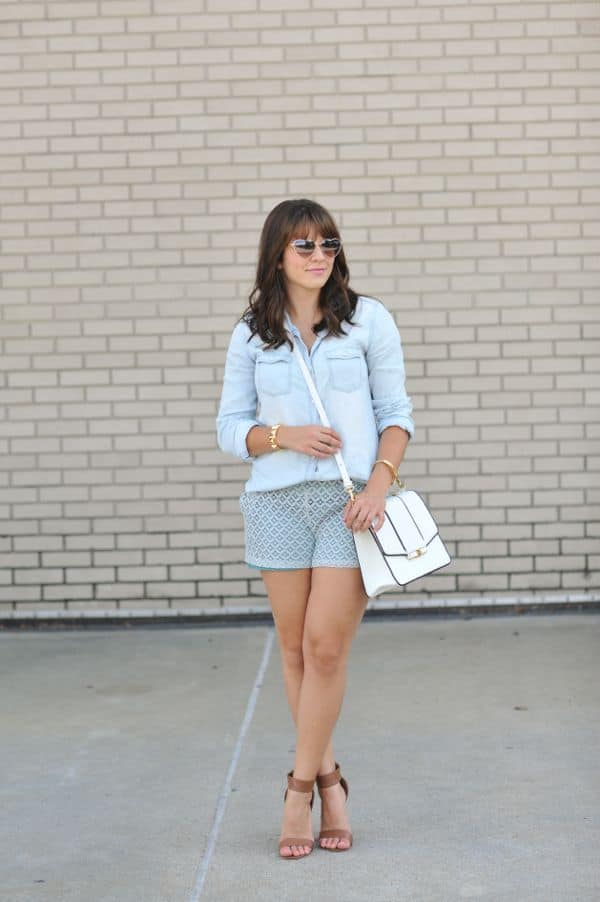 Chambray and lace 1