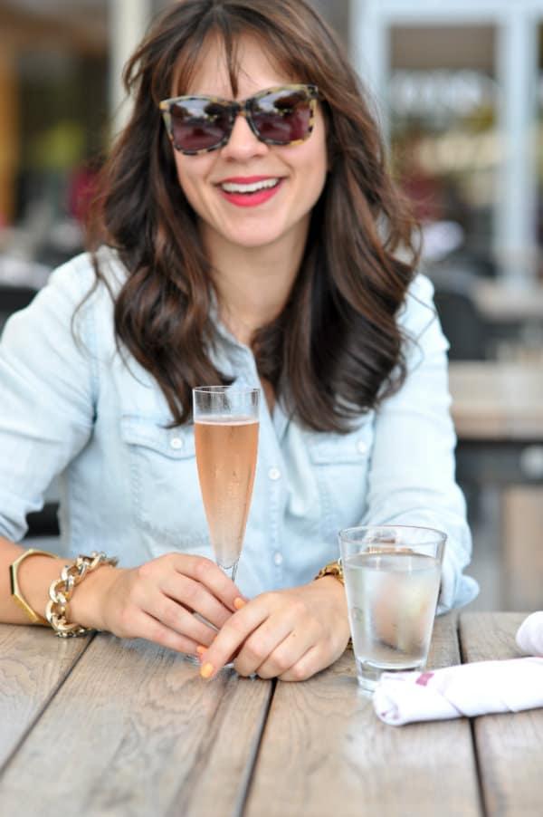 chambray shirt, champagne,
