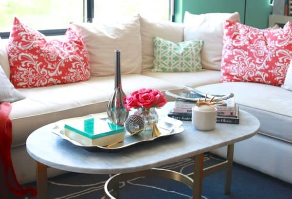 West Elm Coffee Table Styling Feminine Details