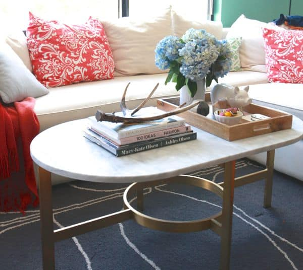 West Elm Coffee Table Styling French Country