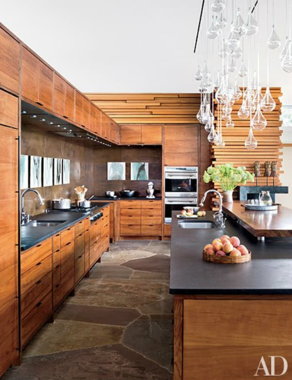 Modern mountain homes via architectural digest - Cuisine moderne images architectural digest ...