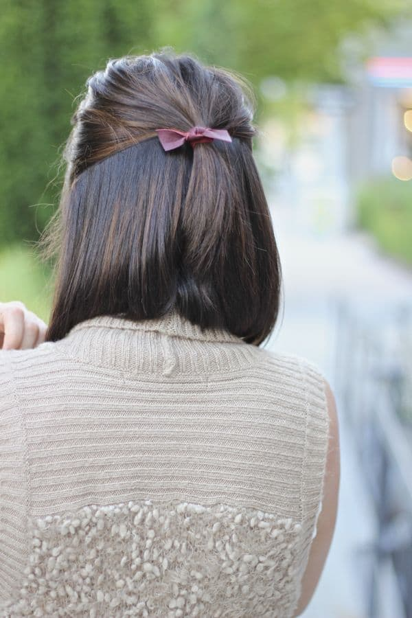 Emijay leahter hairtie, long bob haircut ideas, short hair ideas via @mystylevita