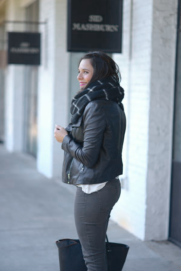 Black And White Blanket Scarf Outfit My Style Vita