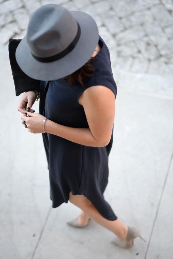 Calypso Silk Dress And Fedora