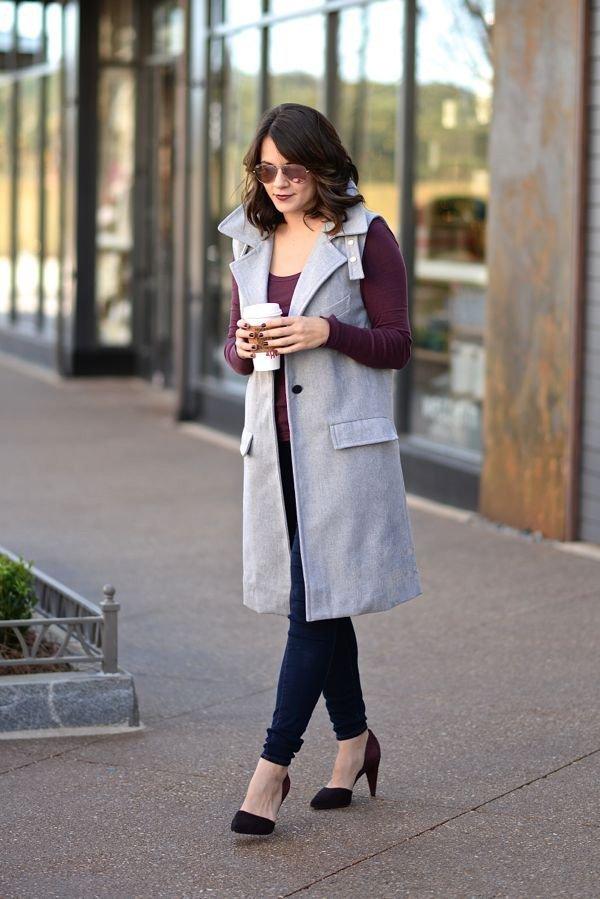 Sleeveless Trench coat and jeans via @mystylevita