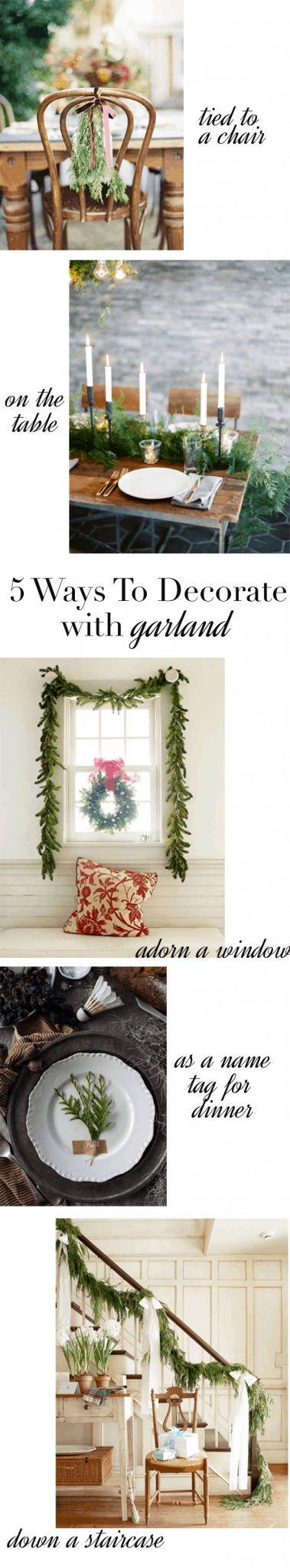 5 Ways To Decorate With Garland