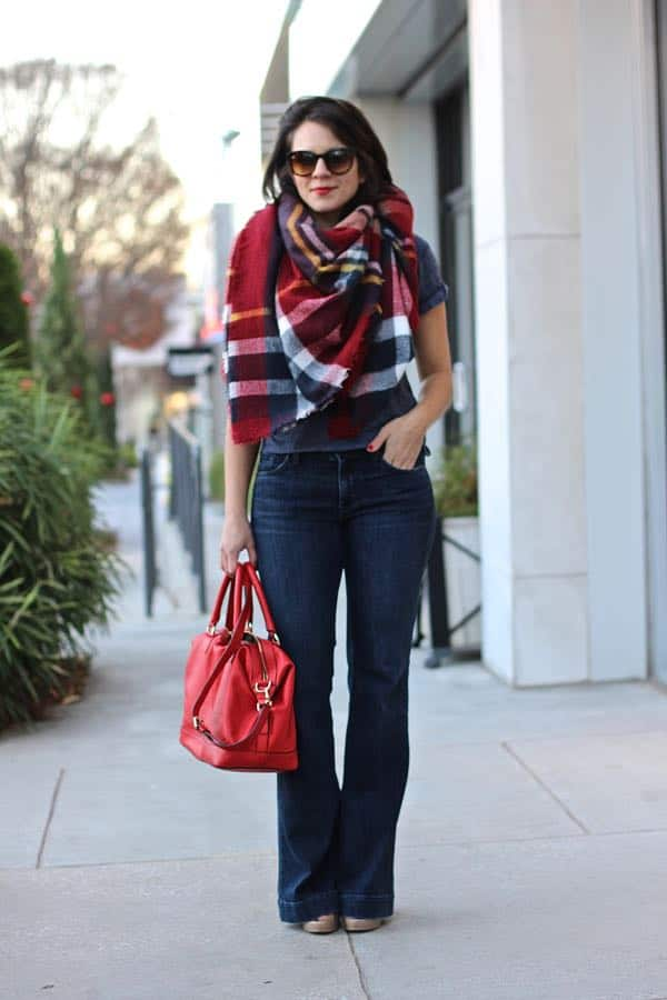 how to wear a wide scarf