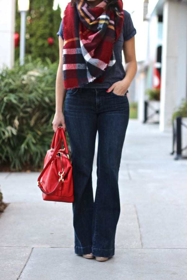 how to wear wide leg jeans for fall - My Style Vita @mystylevita