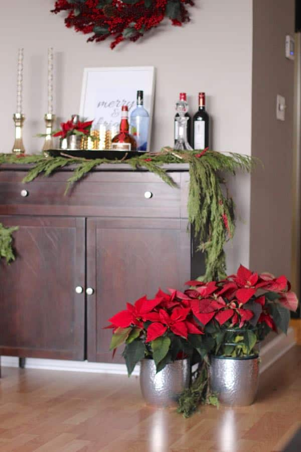 How to decorate a bar cart for the holidays - How to decorate a bar ...