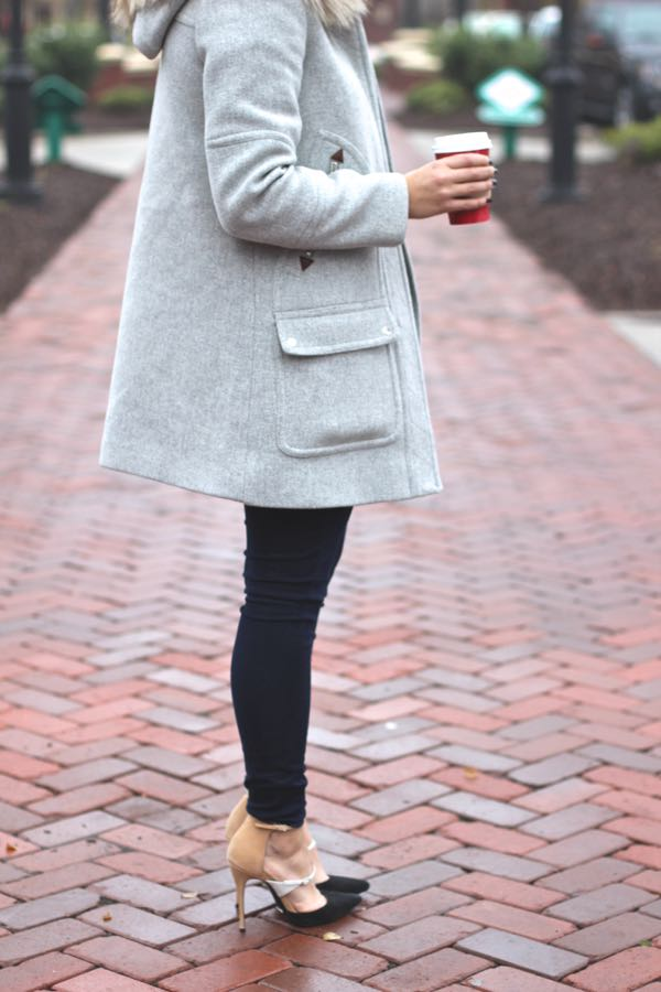 J. Crew Chateau Parka Outfit and Heels via @mystylevita