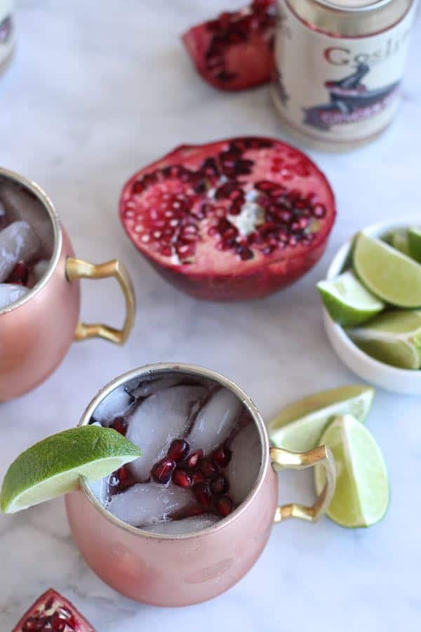 Best Pomegranate Moscow Mule Recipe, holiday cocktail ideas - @mystylevita