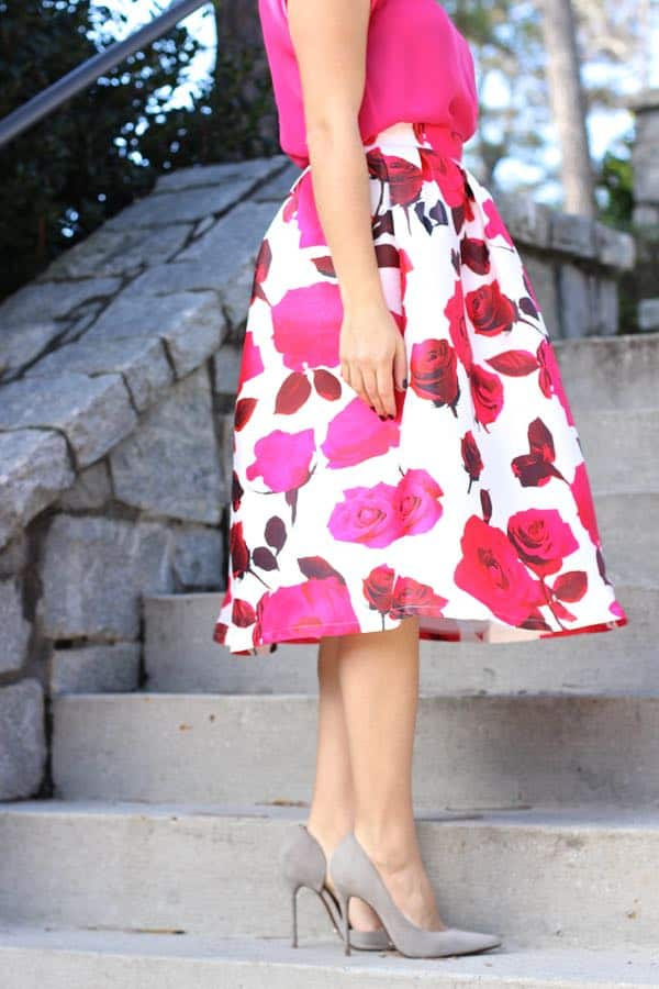 floral print midi skirt via @mystylevita