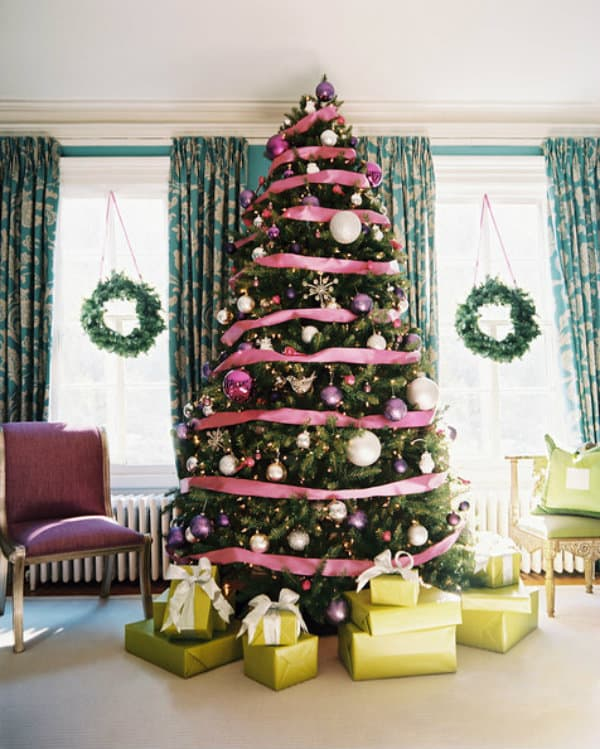 pink ribbon christms tree lonny pink christmas 1 - How To Decorate Pink Christmas Tree