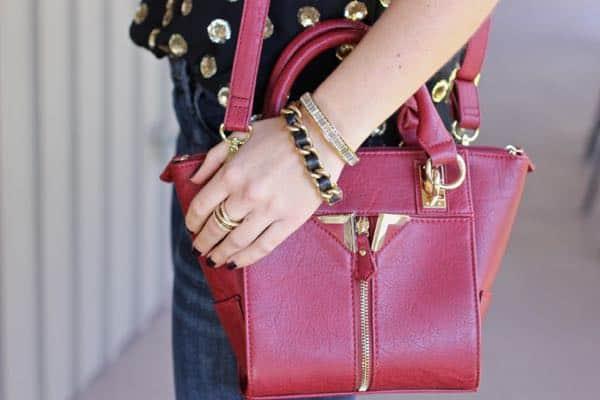 red Danielle Nicole handbag via @mystylevita