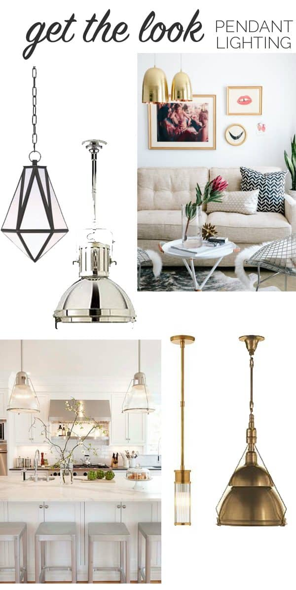 pendant lamps for the living or dining room - My Style Vita @mystylevita
