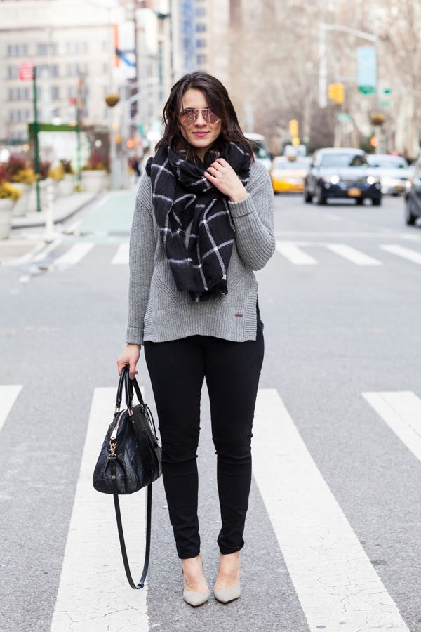 Black and Grey Winter outfit Ideas
