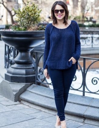 @freepeople sweater and jeans - winter street style via @mystylevita