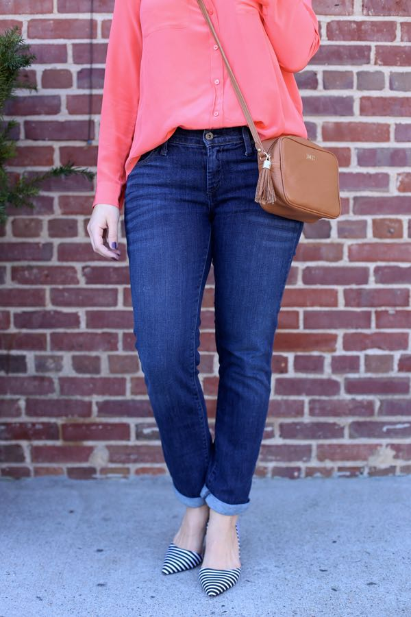 Spring Outfit Coral and stripes via @mystylevita 3
