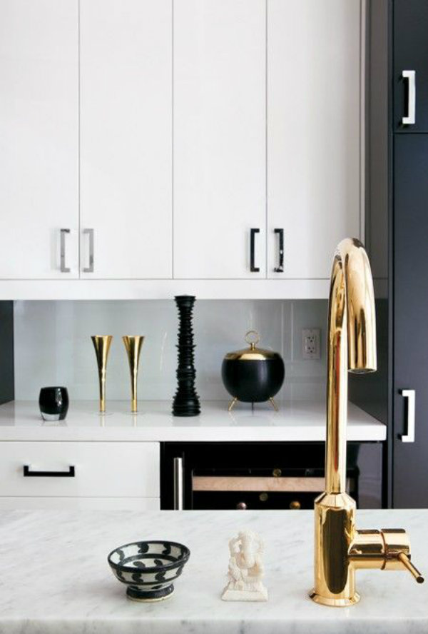 How to decorate with black and gold - Black and gold kitchen ...
