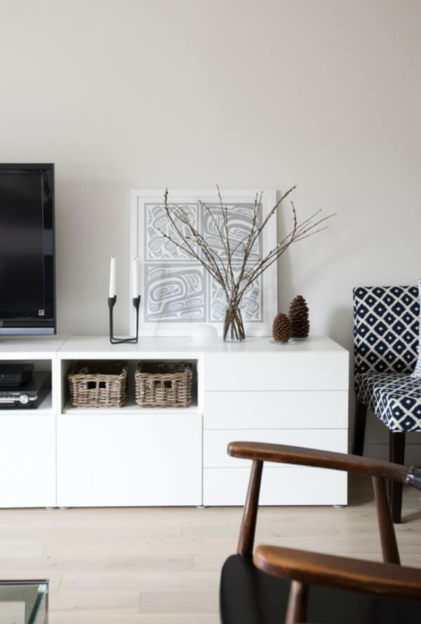 White Media Console How To Style Your Stand