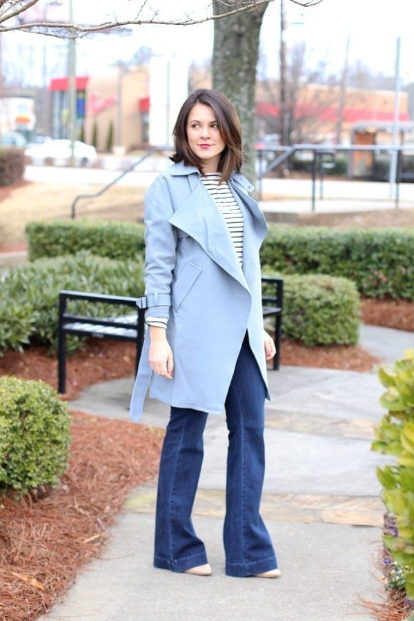 Baby blue and stripes via @mystylevita