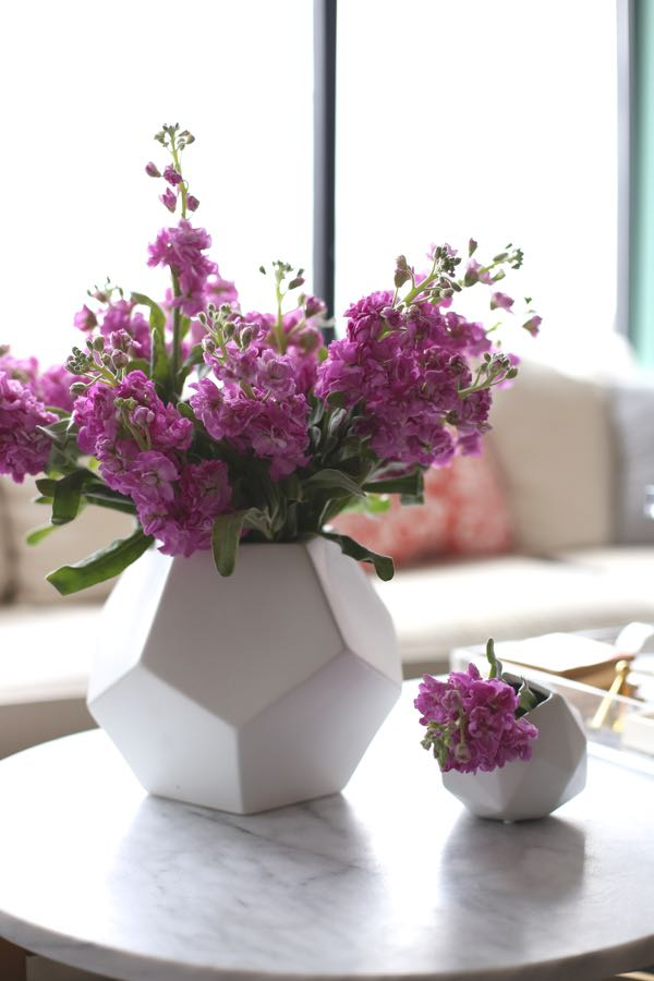 Dwell Studio faceted vase with flowers - My Style Vita