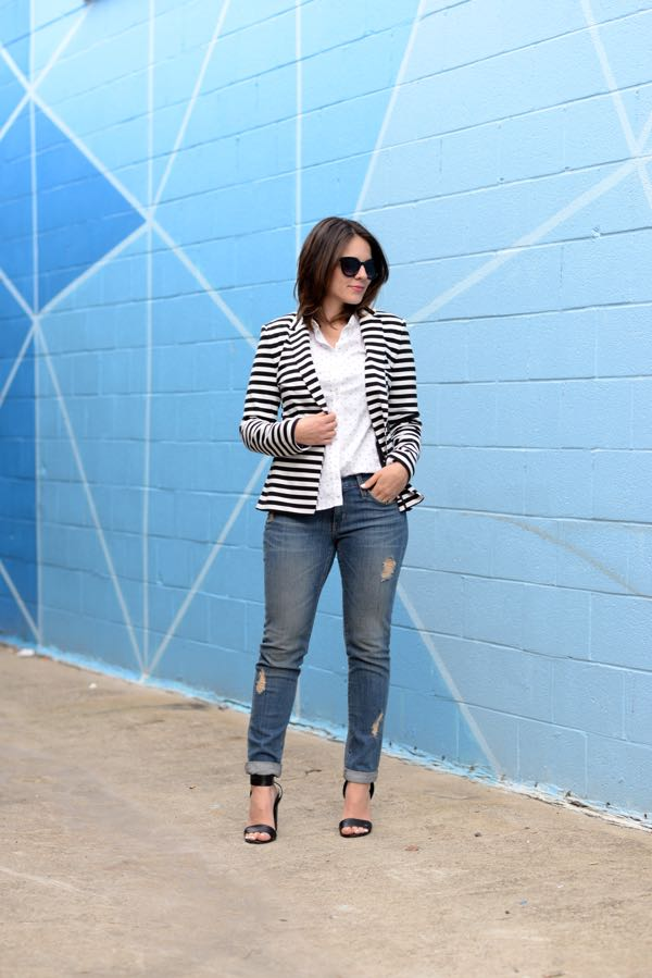 oxford and a blazer with jeans via @Mystylevita