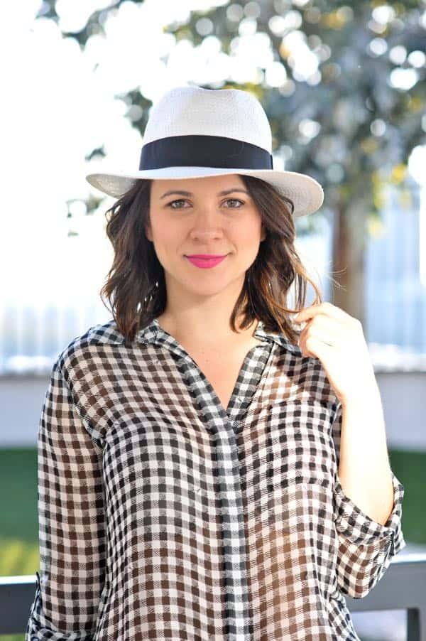 51f1a8e8 ... DVF gingham blouse, panama hat - @mystylevita ...