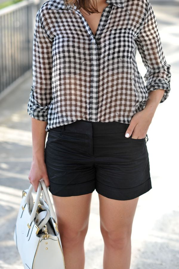 DVF gingham blouse via @mystylevita
