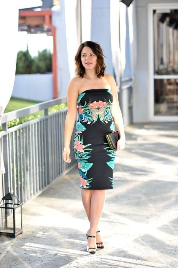 Express midi tropical print dress via @mystylevita Atlanta fashion blogger
