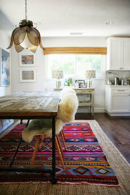 bold colorful aztec rugs via @mystylevita - 2