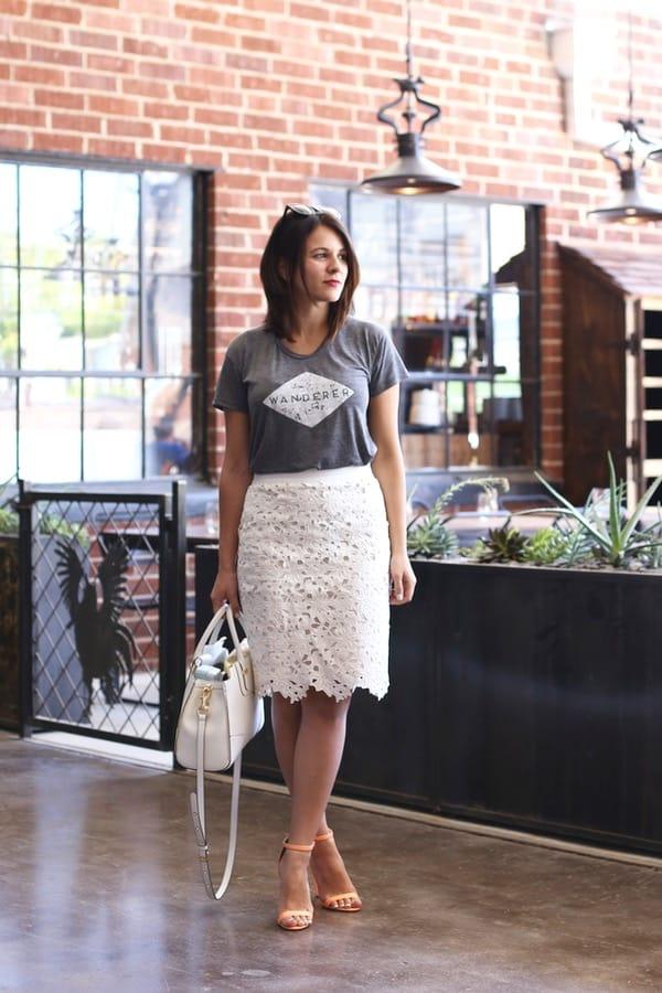 Wanderer tee and lace skirt via @mystylevita