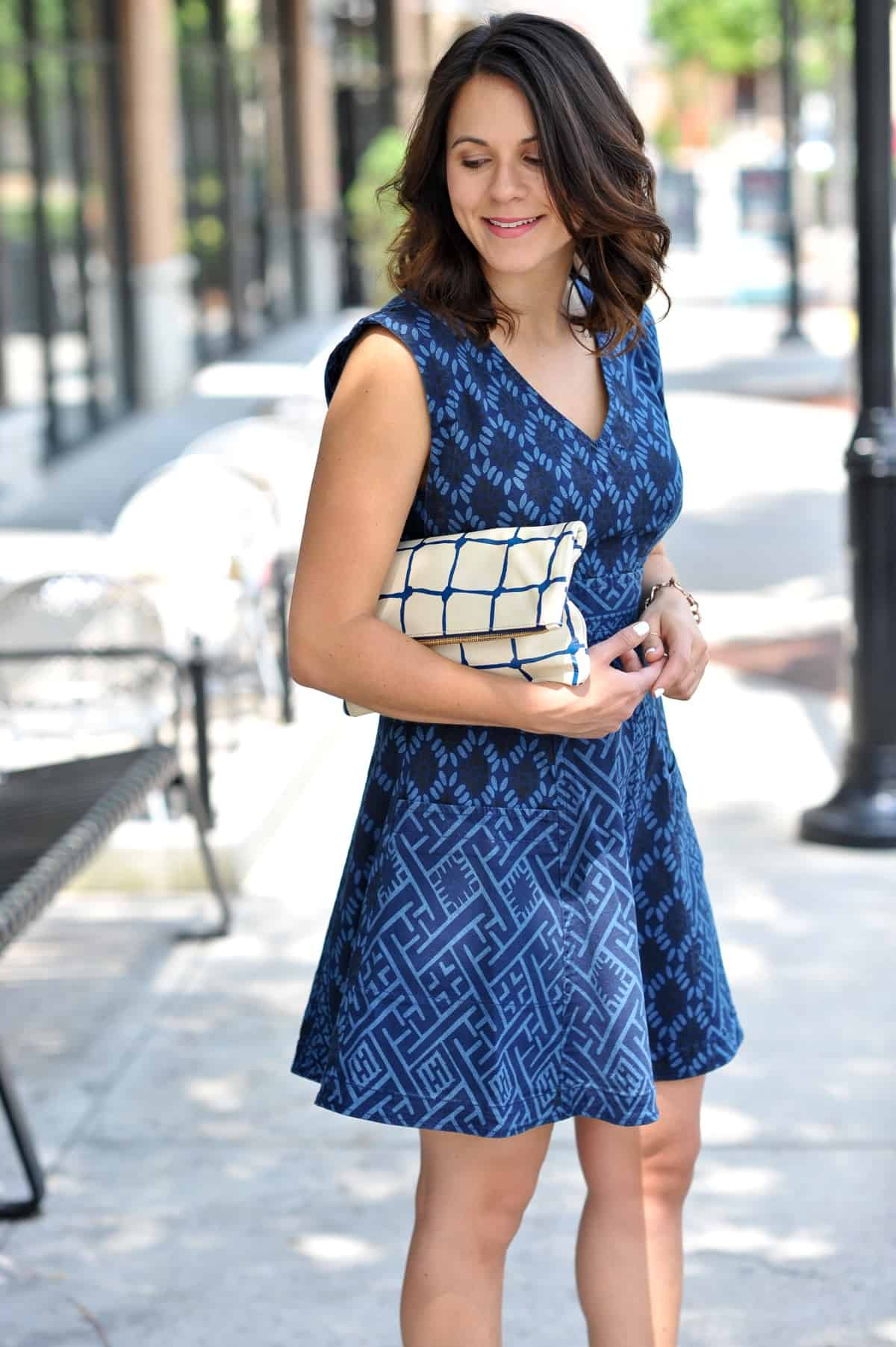 Anthropologie Indigo Fit and Flare Dress via @mystylevita