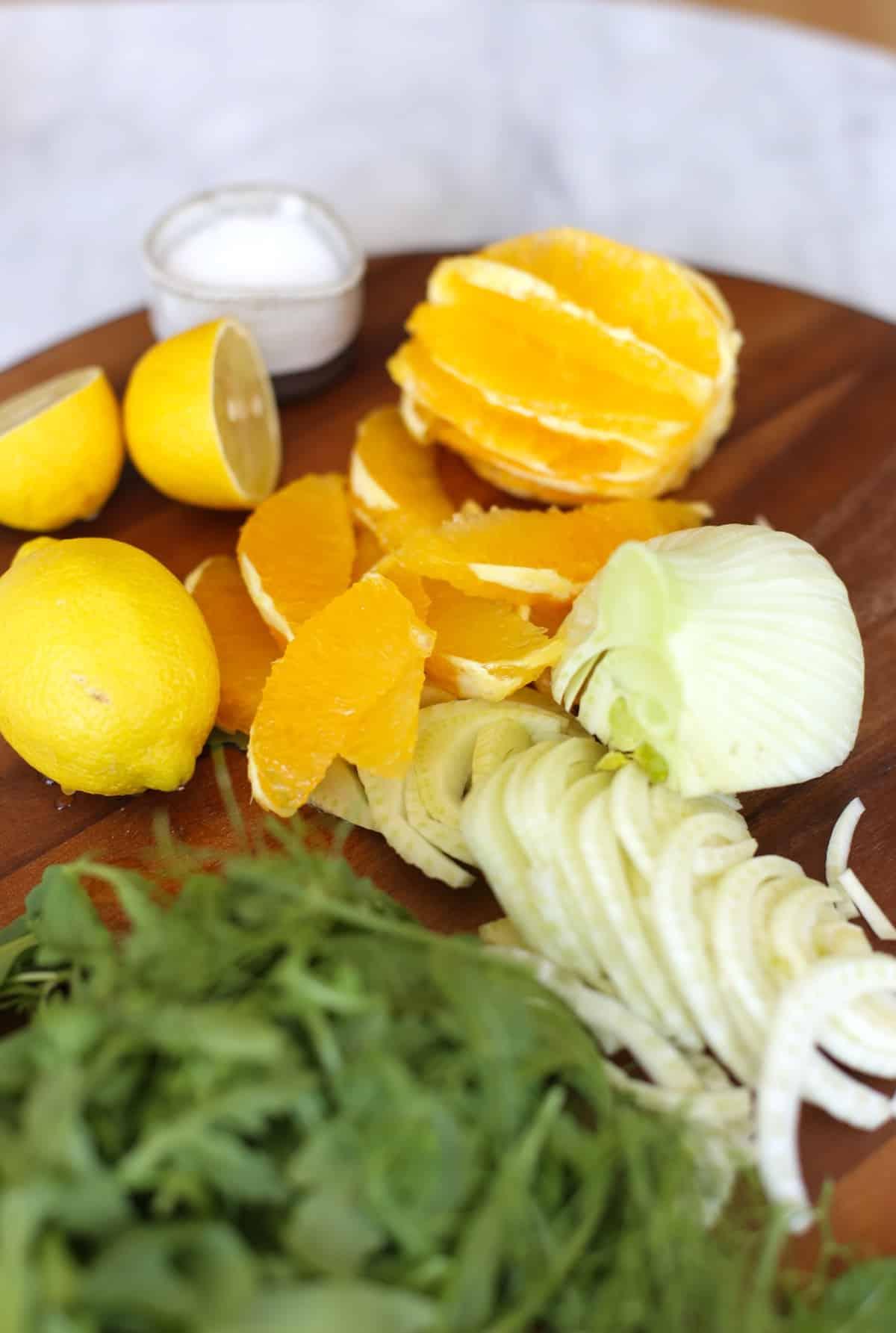 fennel and orange arugala salad recipe via @mystyelvita
