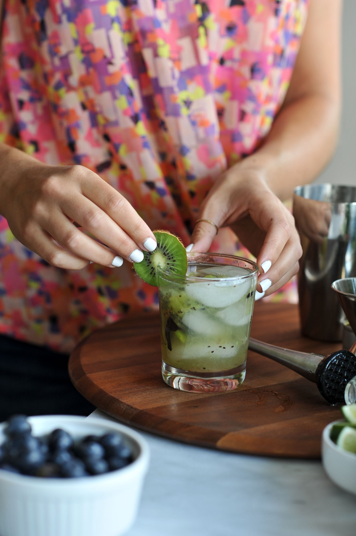 kiwi blueberry mojito recipe via @mystylevita - 11