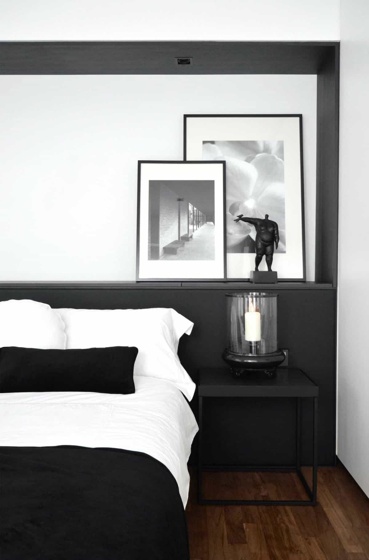 Minimalist bedroom inspiration my style vita for Minimalist black and white bedroom