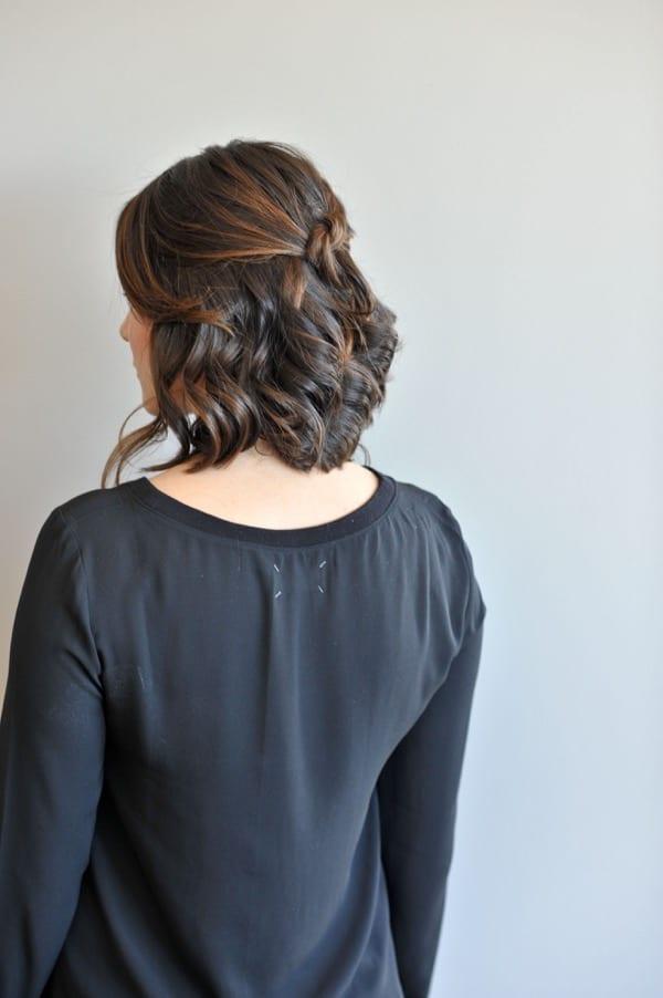 short hair updo hair tutorial via @Mystylevita - 10
