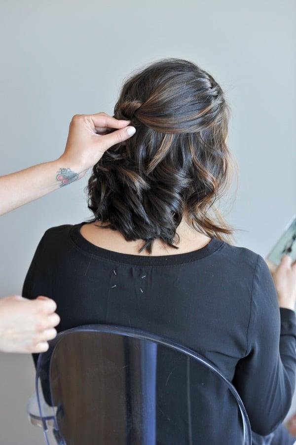 short hair updo hair tutorial via @Mystylevita - 3